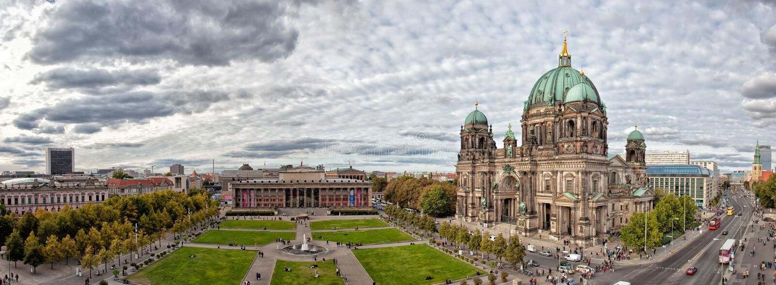 Beautiful day view of Berlin Cathedral (Berliner Dom), stock photo