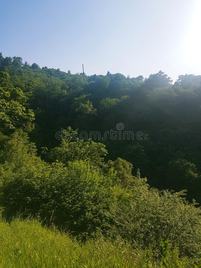 Beautiful daytime in Dilijan landscape. Beautiful daytime in Armenian landscape royalty free stock photography