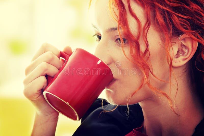 Beautiful deaf woman royalty free stock image
