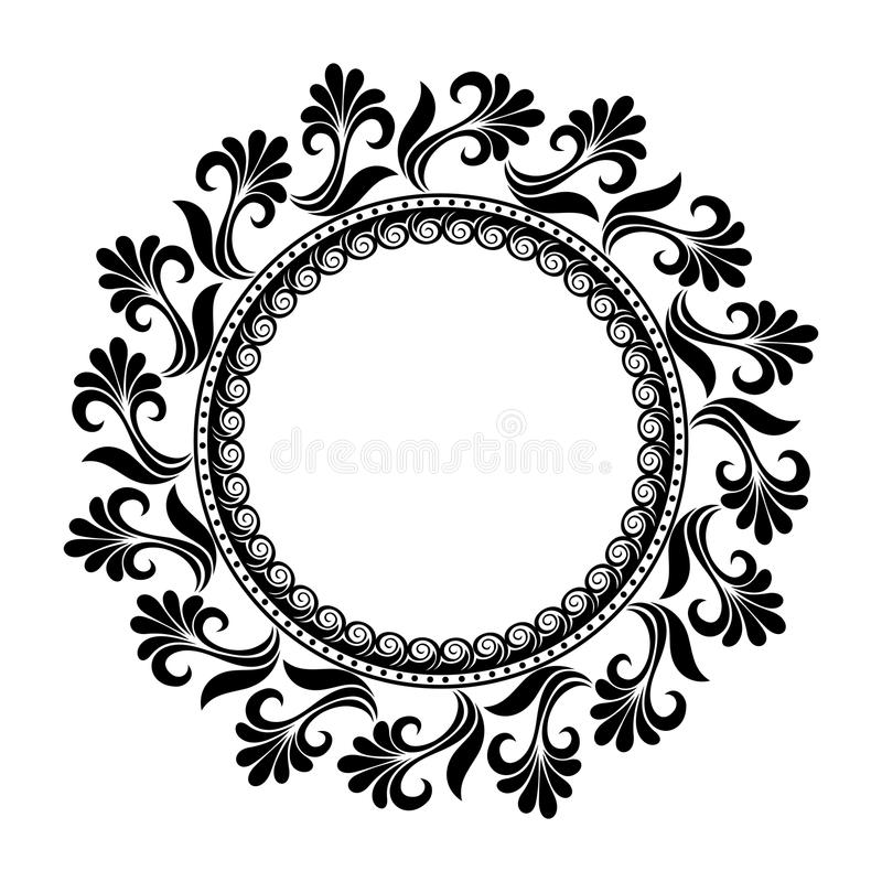 Beautiful Deco Floral Circle (Vector) stock illustration