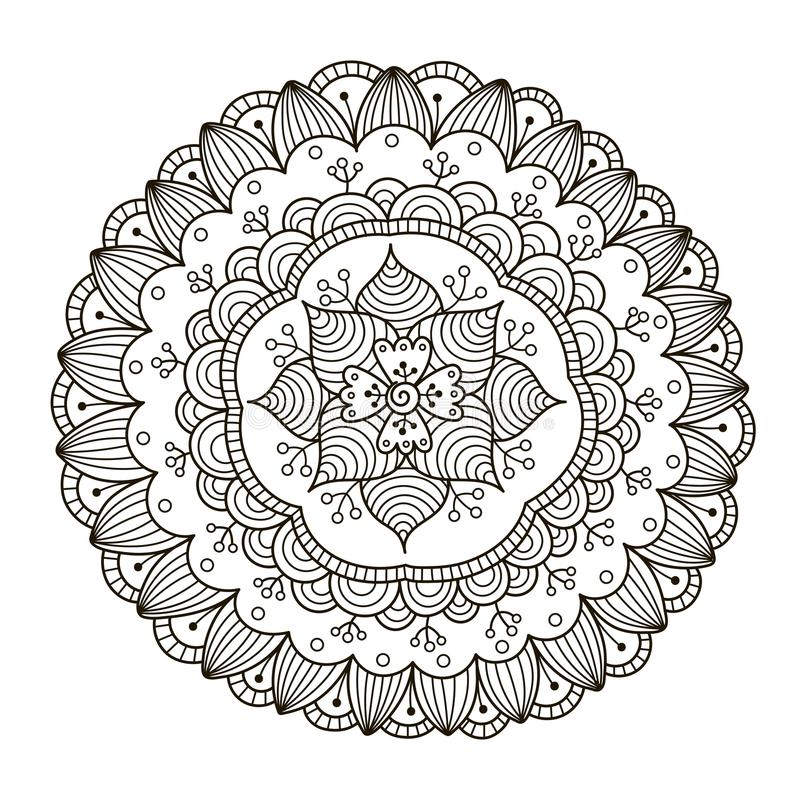Beautiful Deco Floral Mandala. Vector Round Ornament Pattern vector illustration