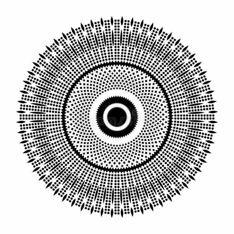 Beautiful Deco Mandala Vector. royalty free stock photos
