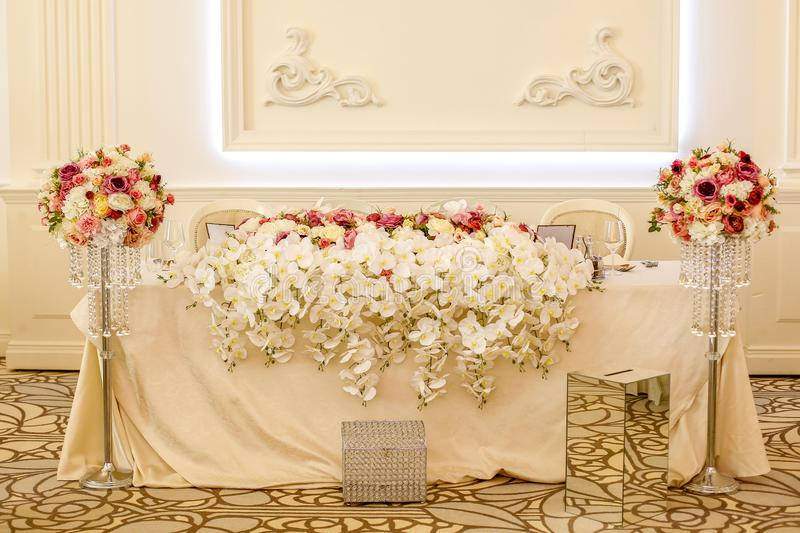 Beautiful decor for wedding royalty free stock photo
