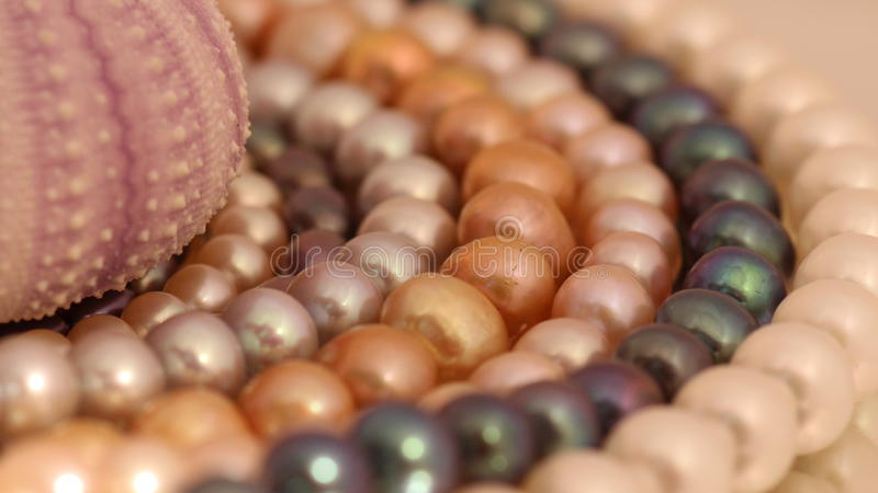 Beautiful decoration of colored pearls royalty free stock photos