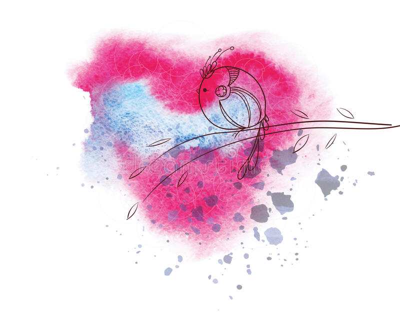 Download Beautiful decorative bird stock vector. Image of decorative - 34270017