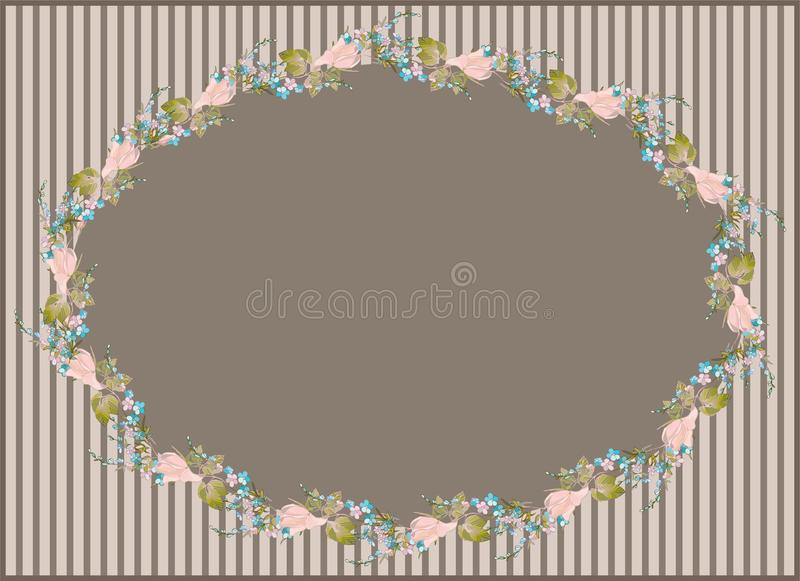 Download Beautiful Decorative Framework With Flowers. Greet Royalty Free Stock Image - Image: 19317636