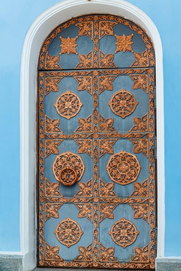 Beautiful decorative metal door of St. Michael`s cathedral in Kiev, Ukraine. Beautiful decorative metal door of St. Michael`s cathedral in Kiev in Ukraine stock images