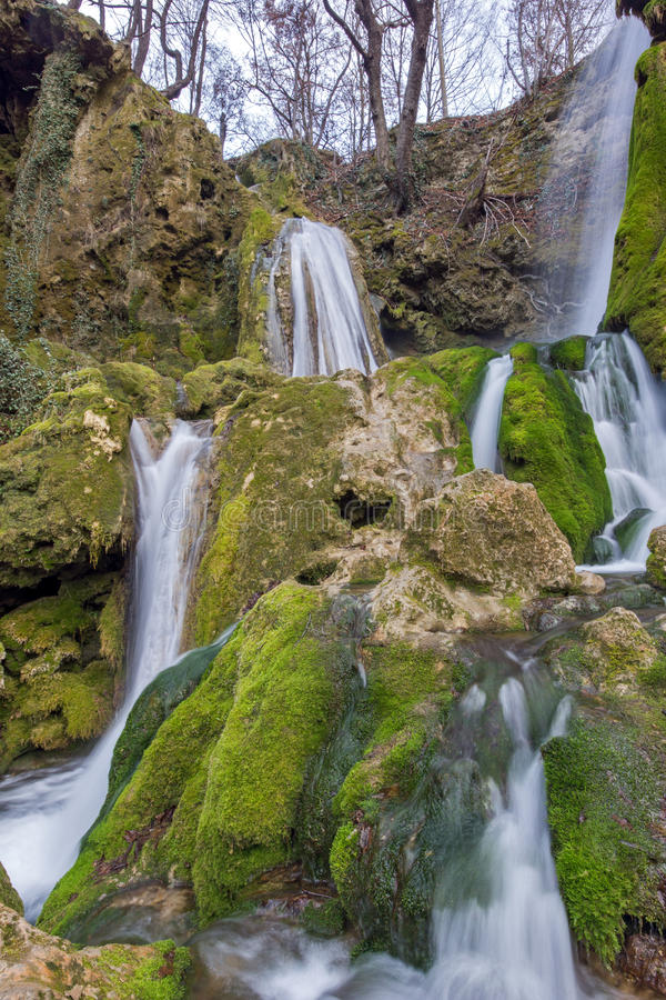 Beautiful Deep forest Waterfall near village of Bachkovo, Bulgaria. Beautiful Deep forest Waterfall near village of Bachkovo, Plovdiv region, Bulgaria stock photos