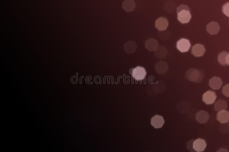 Beautiful defocused LED lights filtered bokeh abstract with marsala tone or red vine tone background. stock photo