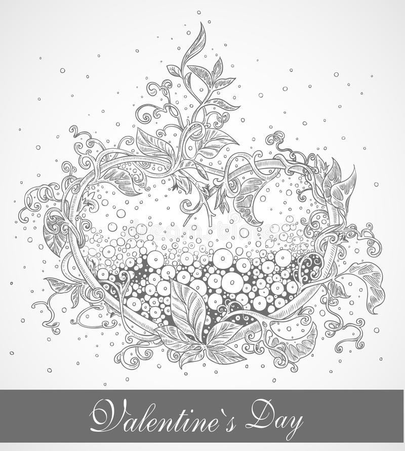 Beautiful delicate in silver tones post card royalty free stock images