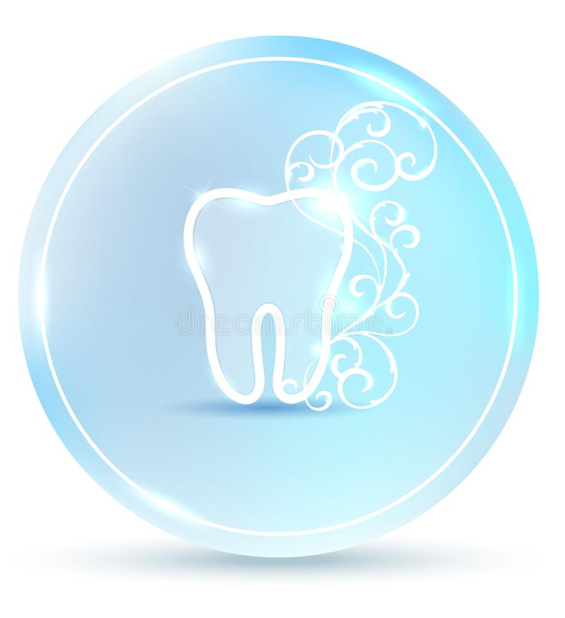 Beautiful dental symbol royalty free illustration
