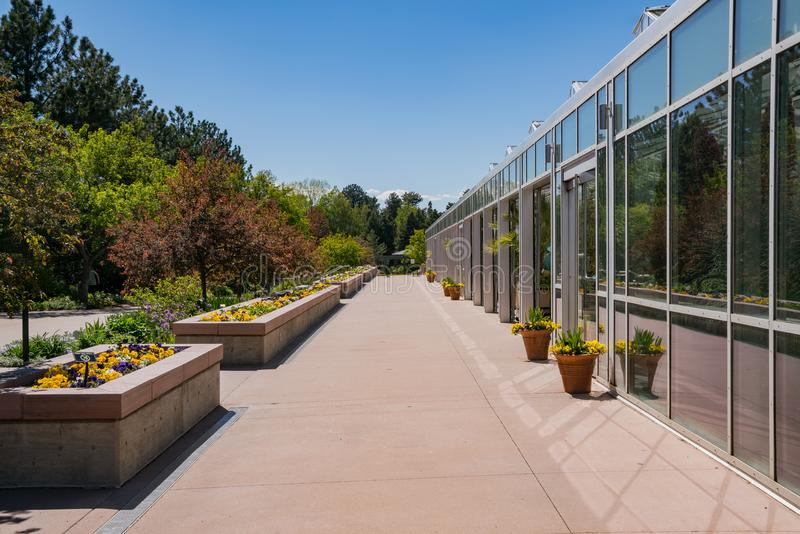 The beautiful Denver Botanic Gardens. Afternoon view of the beautiful Denver Botanic Gardens, Colorado royalty free stock photography