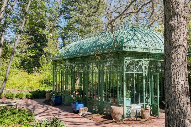 The beautiful Denver Botanic Gardens. Afternoon view of the beautiful Denver Botanic Gardens, Colorado stock photography