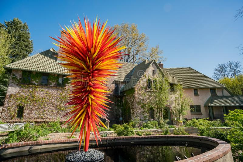 The beautiful Denver Botanic Gardens. Afternoon view of the beautiful Denver Botanic Gardens, Colorado stock images