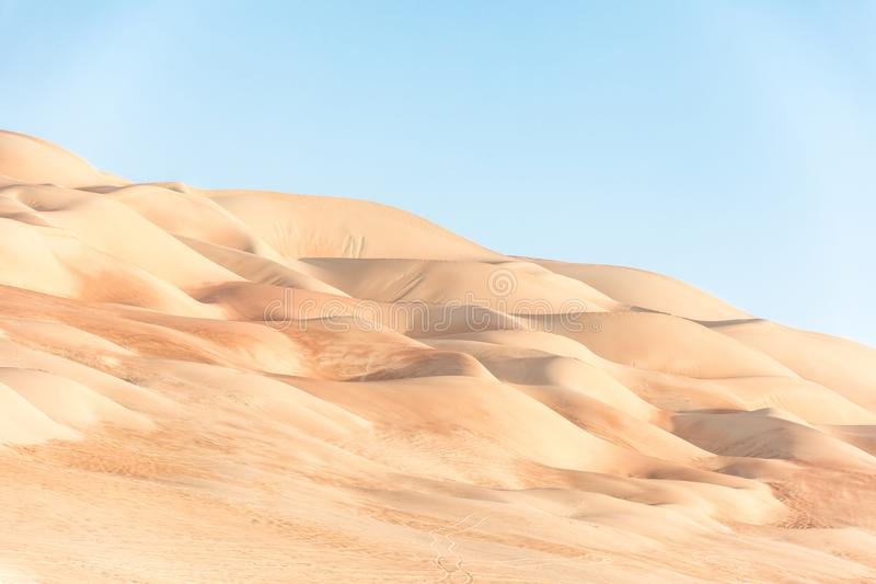 Beautiful Golden Desert Texture From Above  Stock Image