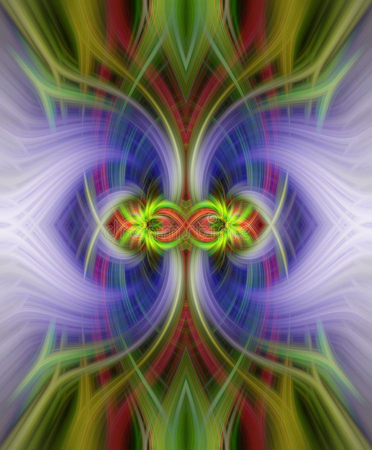 Colorful symmetrical abstract twirl effect for background royalty free stock photography