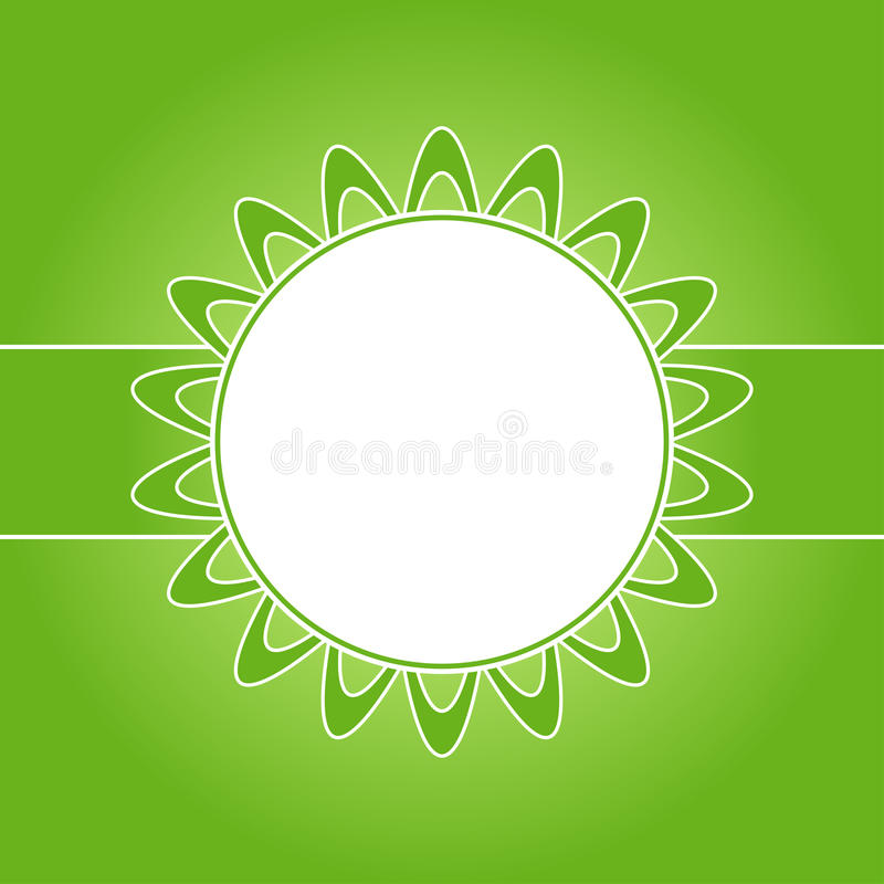 Beautiful design decorated frame. Beautiful floral design decorated frame on green background stock illustration
