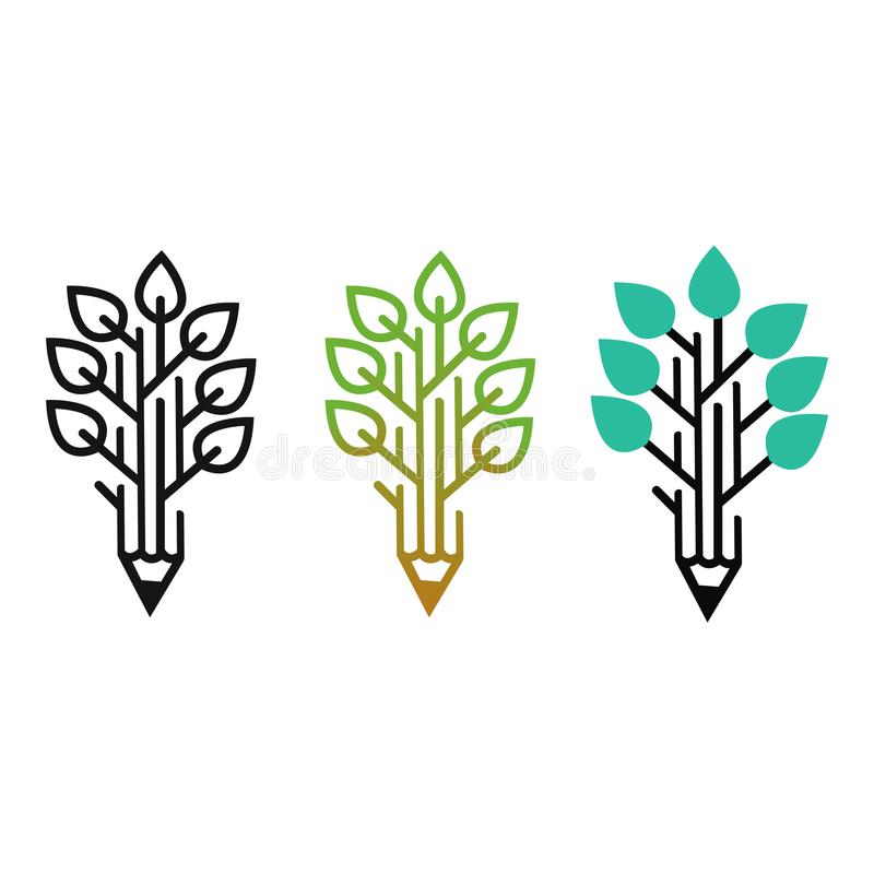 Beautiful design leaf logo for your company royalty free illustration