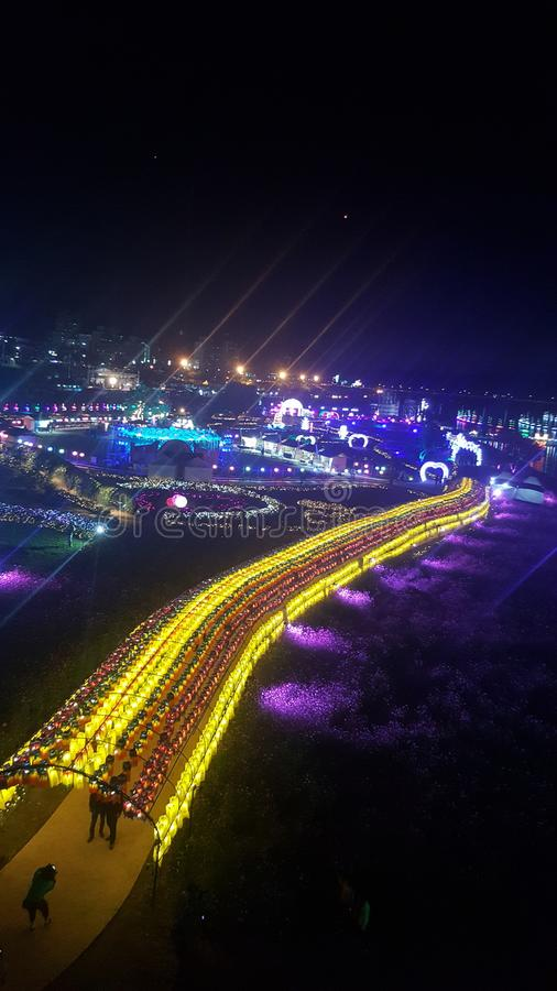 Night life in south korea gongju royalty free stock image