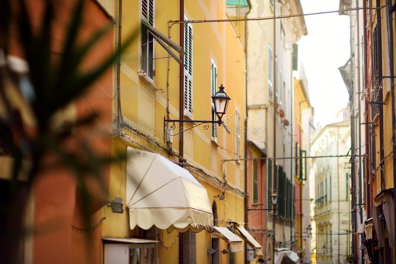 Beautiful details in Lerici town, located in the province of La Spezia in Liguria, part of the Italian Riviera. Italy royalty free stock image