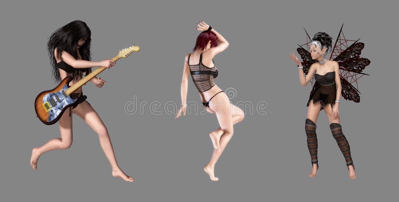 Beautiful Digital Characters Royalty Free Stock Photo