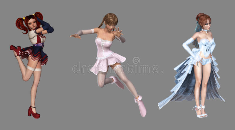 Download Beautiful Digital Fantasy Characters Stock Illustration - Image: 26362680