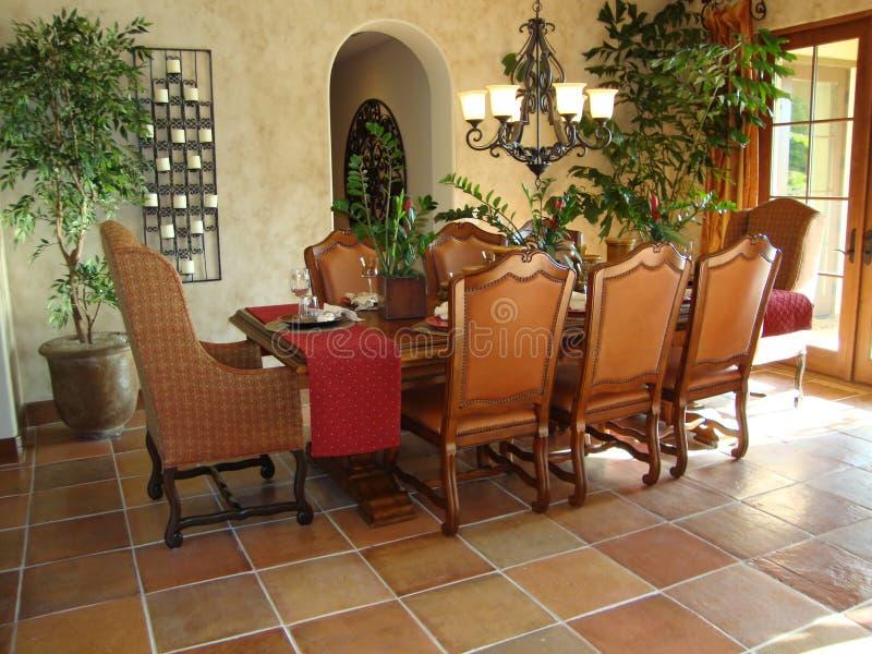 Beautiful Dining Room. Beautiful Spanish style dining room stock photo