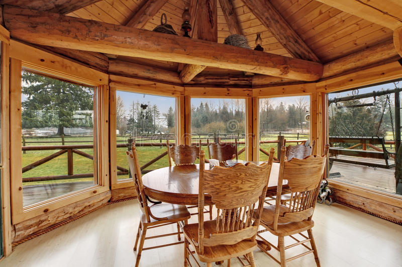 Download Beautiful Dining Room In Log Cabin House Royalty Free Stock Photo    Image: 38327295
