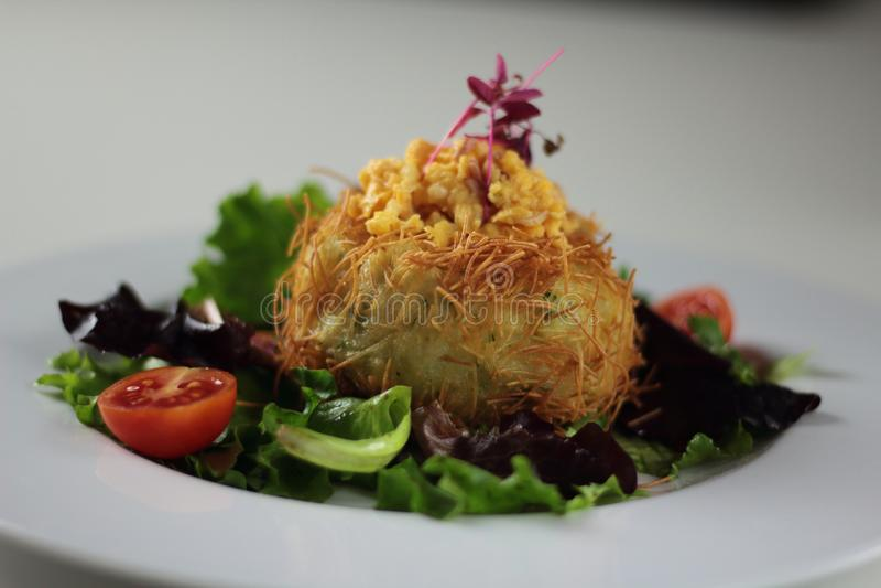 Stuffed Potato Nest royalty free stock photos