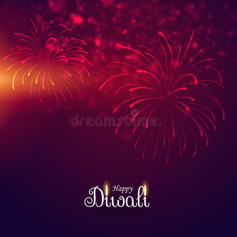 Beautiful display of firework celebration royalty free illustration
