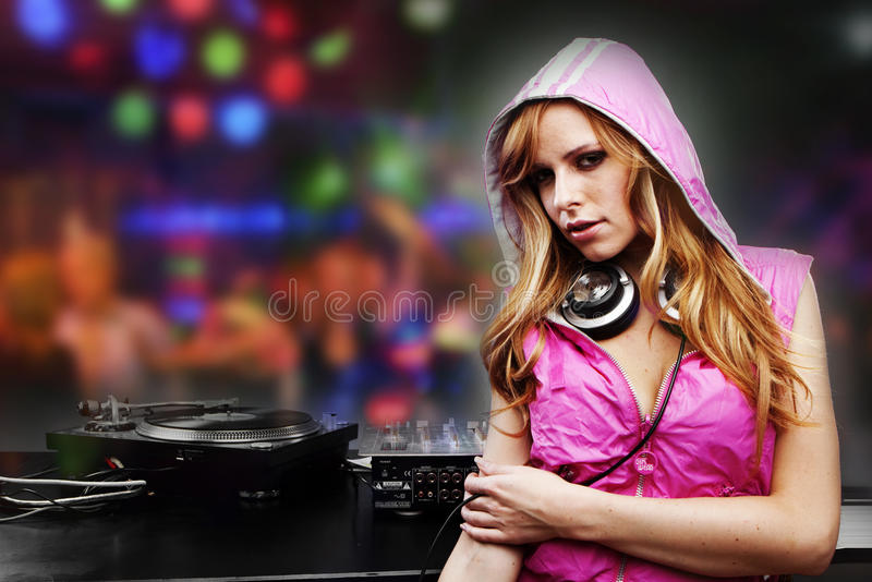 Download Beautiful DJ Girl Royalty Free Stock Photography - Image: 12609237