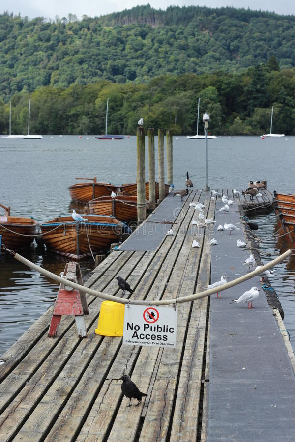 Beautiful dock in windermere stock image