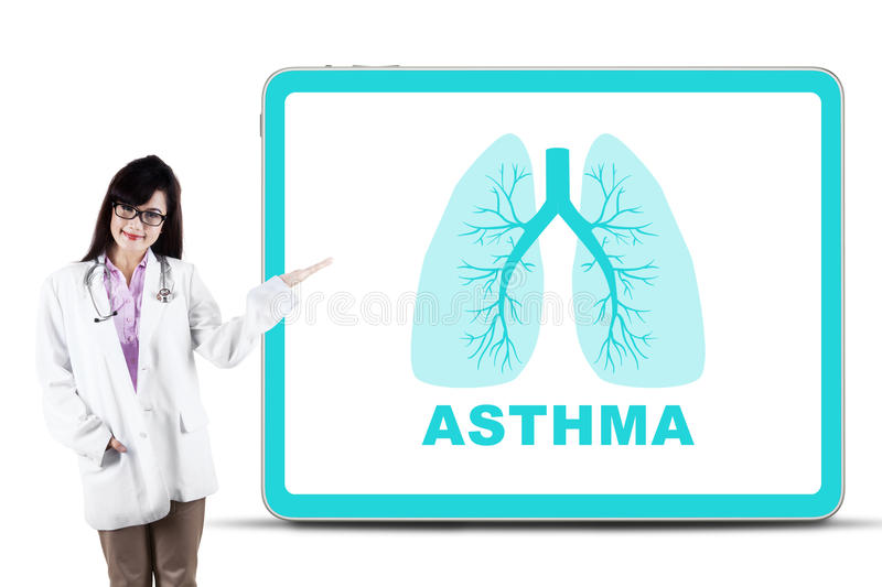Beautiful Doctor With Lungs Symbol Stock Photo Image Of Lungs