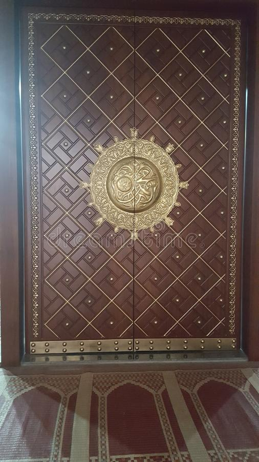 A beautiful door of a Mosque stock images