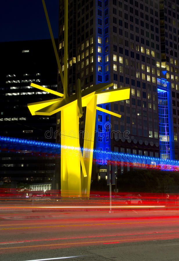Download Beautiful Downtown Of  City Dallas Night View Stock Photo - Image of architecture, office: 79228710