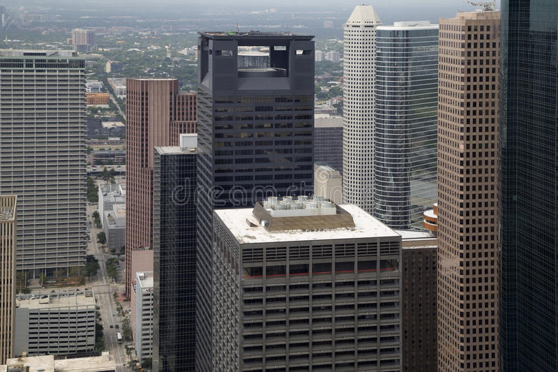 Beautiful downtown Houston TX stock images