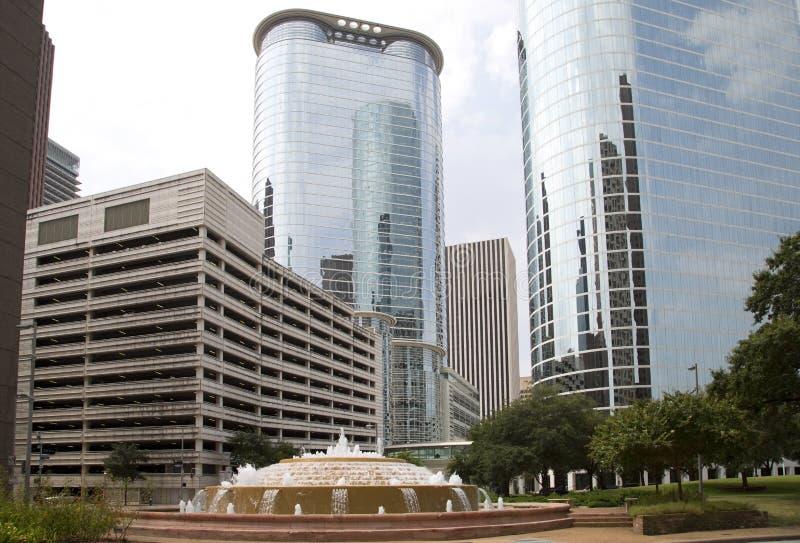 Beautiful downtown Houston royalty free stock image