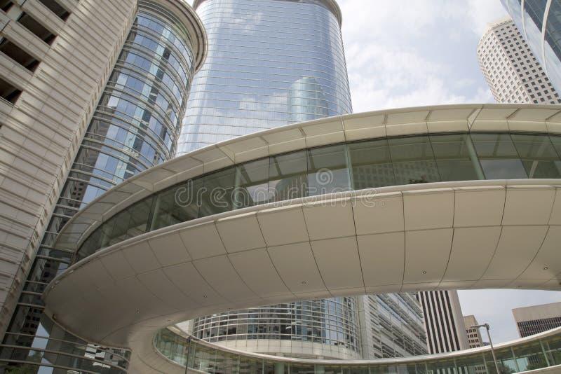 Beautiful downtown Houston royalty free stock photos