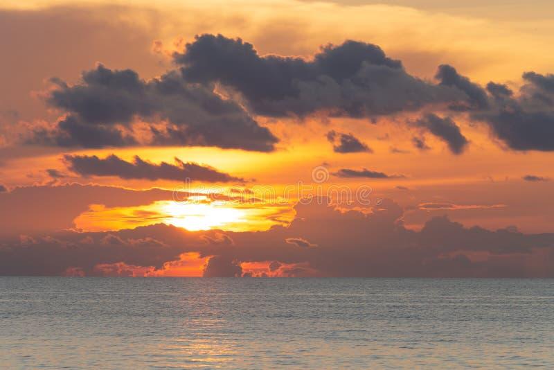 Beautiful dramatic cloudscape landscape sunset from the beach. Beautiful cloudscape landscape sunset from the beach stock images