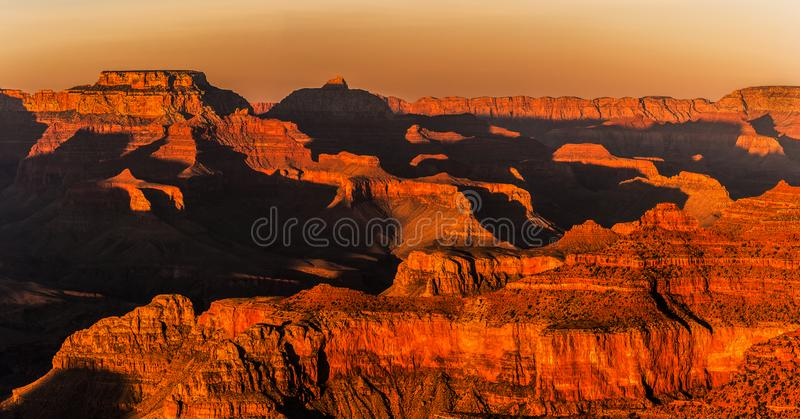 Beautiful and dramatic Grand Canyon overlook stock photography