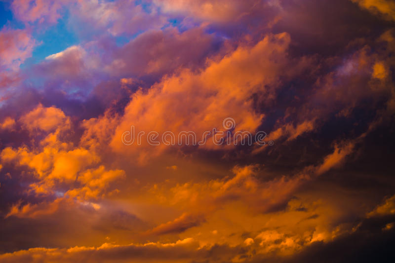 Beautiful dramatic winter cloudscape royalty free stock photography