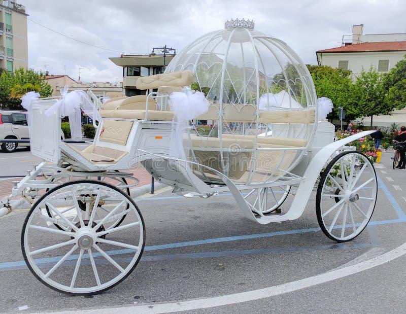 Beautiful dream carriage, in Marina di Massa stock photos
