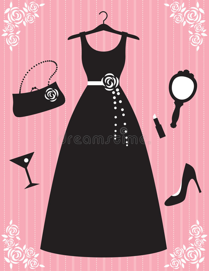 Beautiful Dress and Accessories stock image