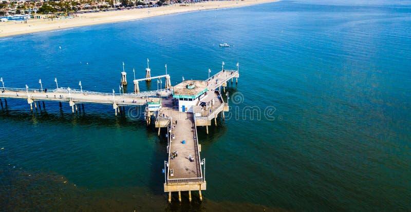 Long Beach Pier drone photo royalty free stock image