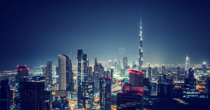 Beautiful Dubai cityscape stock image