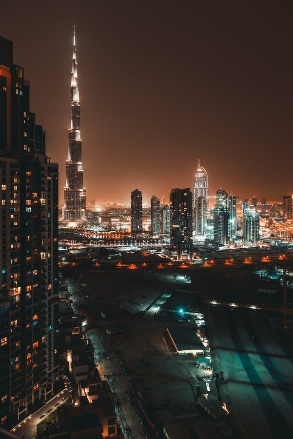 Beautiful Dubai at Night stock photos