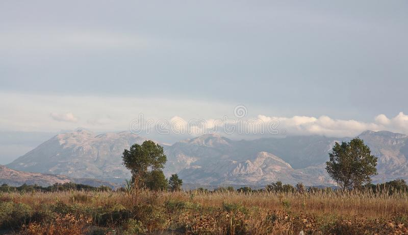 Early morning in the steppes of Montenegro. Beautiful early morning in the steppes of Montenegro royalty free stock images