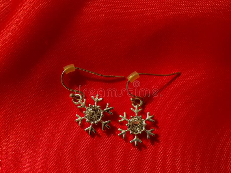 Jewelry made of silver and precious stones in the jewelry salon. stock images