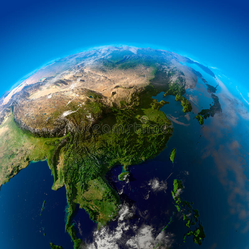 Download Beautiful Earth - East Asia From Stock Illustration - Image: 16387662