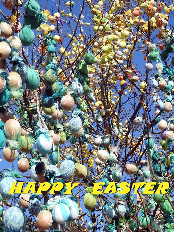 Beautiful Easter card, Lithuania royalty free stock photos